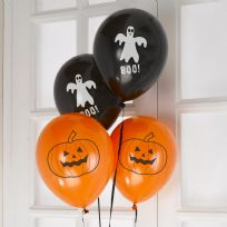 Halloween Black & Orange Balloons (8)